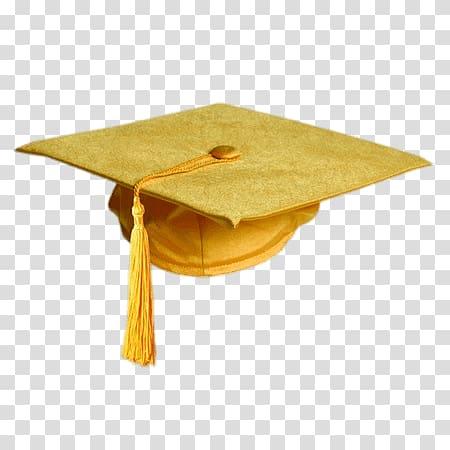 Yellow graduation hat, Gold Colour Graduation Hat.