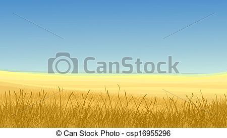 Yellow grass clipart.