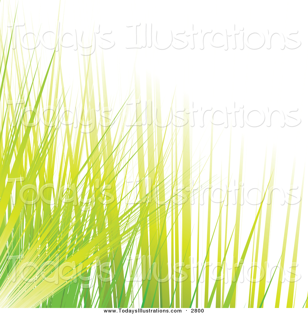 Clipart of Green and Yellow Blades of Grass by MilsiArt.