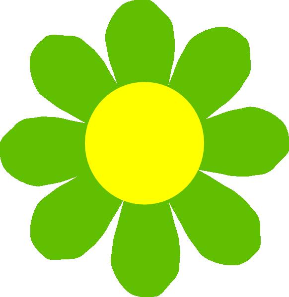 Yellow Green Flower Clipart.