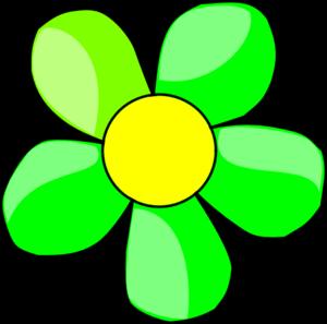 Green Flowers Clipart.