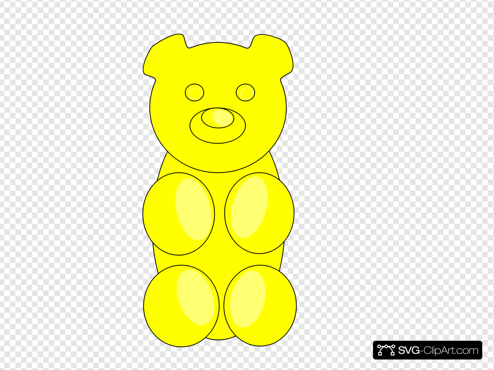 Gummy Bear Outline Clip art, Icon and SVG.
