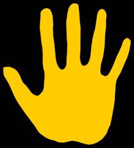Gold Hand Clip Art at Clker.com.