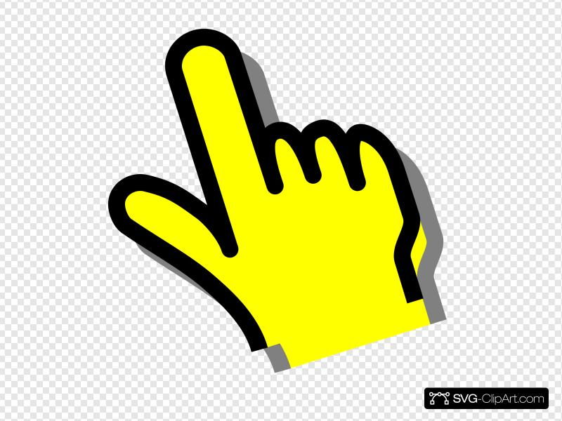 Yellow Hand Clip art, Icon and SVG.