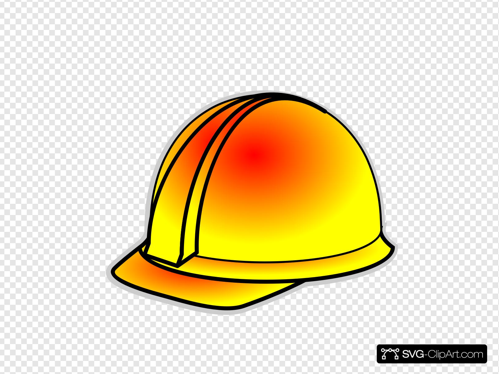 Yellow Hard Hat Clip art, Icon and SVG.