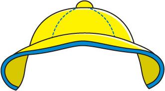 Yellow Rain Hat Clipart.