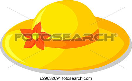 Yellow hat clipart.