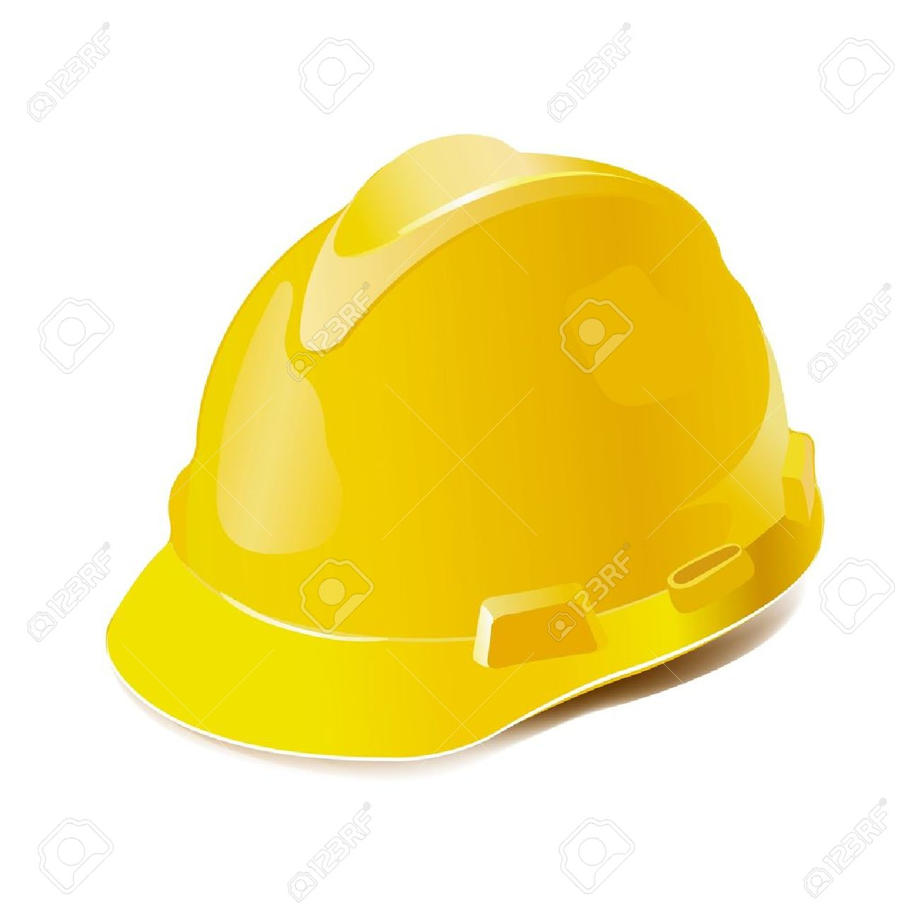 Yellow hard hat clipart.