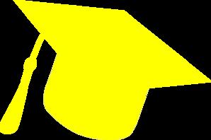 Graduation Hat Silhouette Yellow Clip Art at Clker.com.