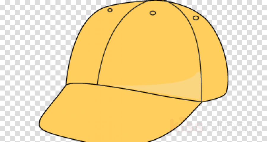 yellow clothing cap headgear line clipart.