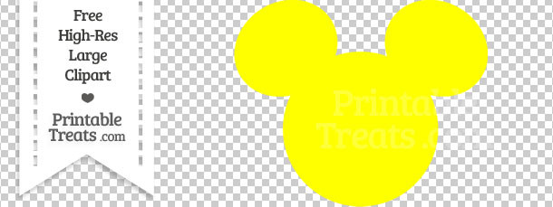 Polka dot mickey mouse head clipart.