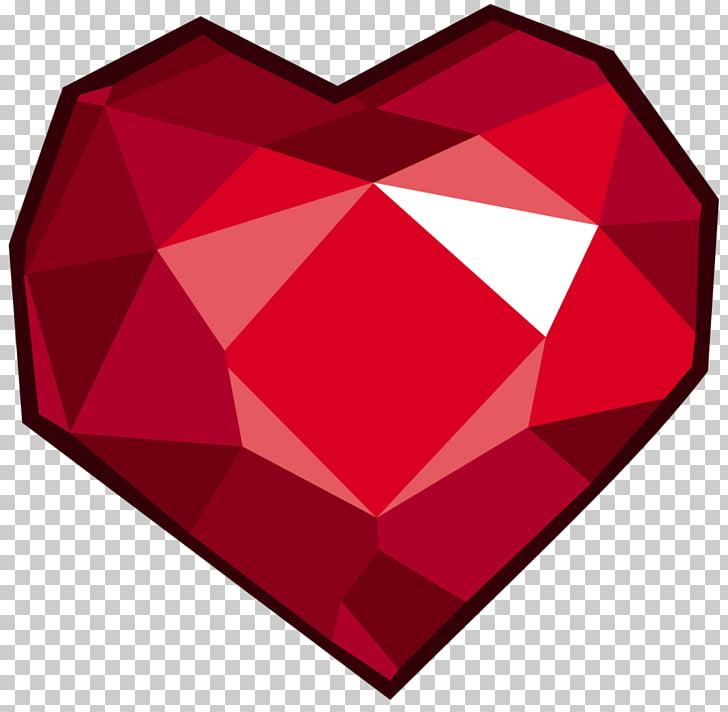 Ruby Gemstone Heart , gemini PNG clipart.