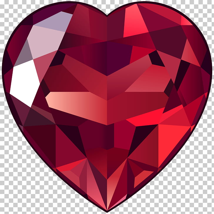 Large Ruby Heart , heart ruby illustration PNG clipart.