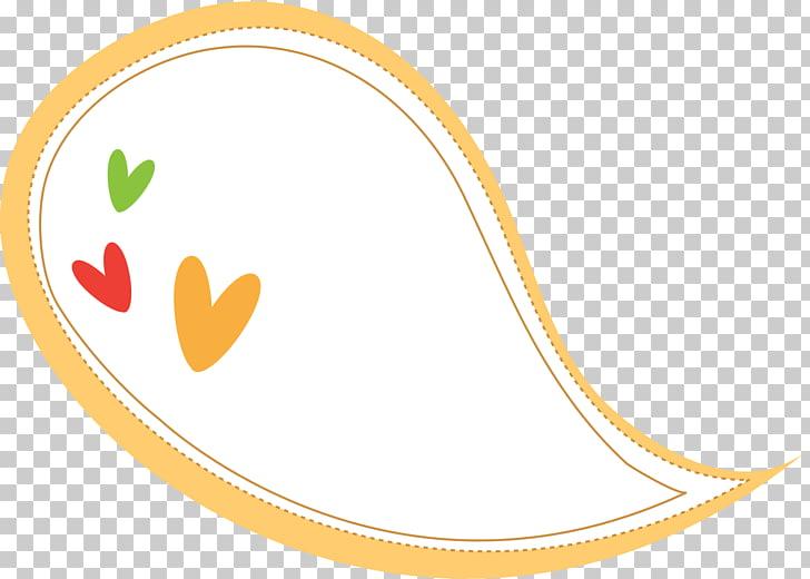 Speech balloon , Yellow heart.