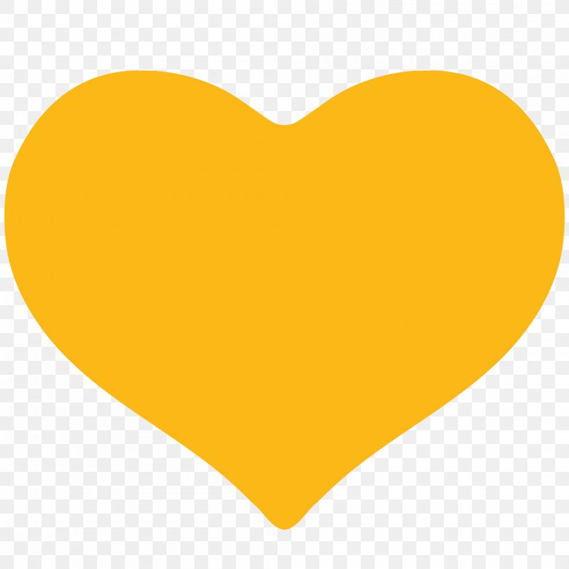 Yellow Heart Font, PNG, 2000x2000px, Yellow, Heart, Orange.