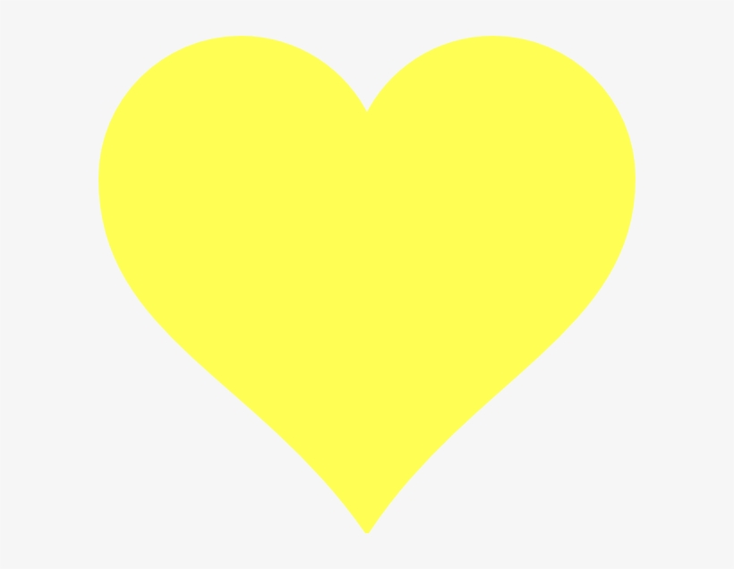 Yellow Heart Clipart.