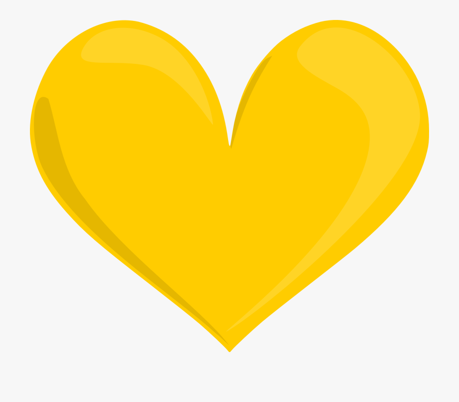 Jpg Royalty Free Download Yellow Heart Clipart.