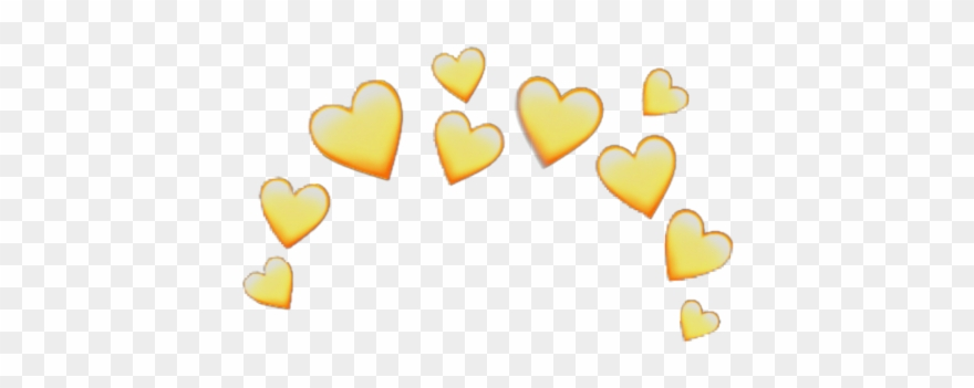 Yellow Heart Crown Heartcrown Emoji Iphone Random Stick.