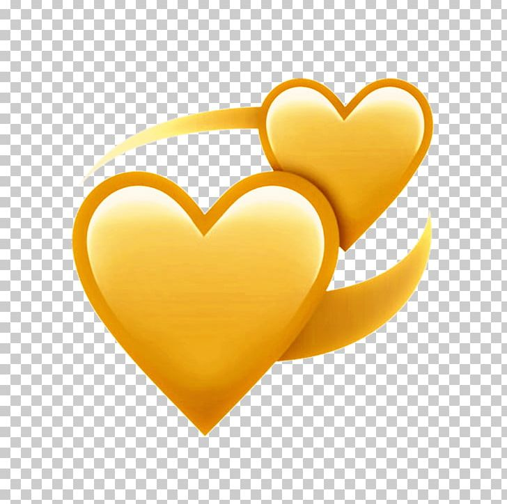 Heart Emoji Yellow Love M.
