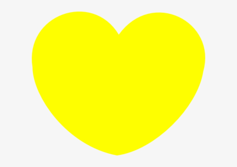 How To Set Use Simple Yellow Heart Shape Clipart PNG Image.
