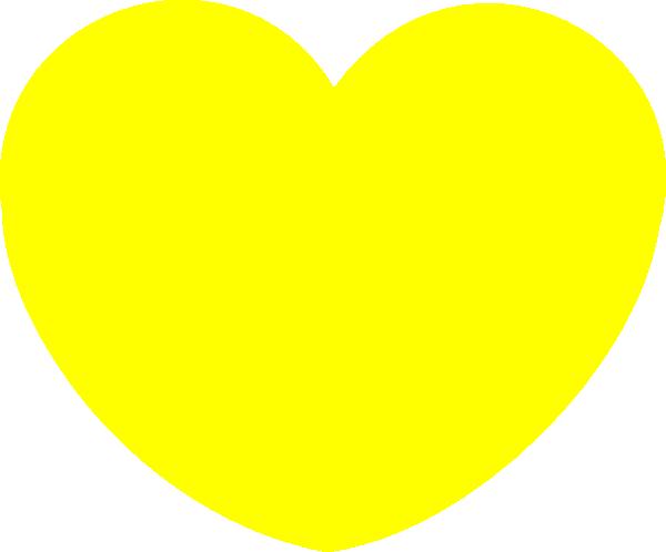 Yellow Heart Clipart.