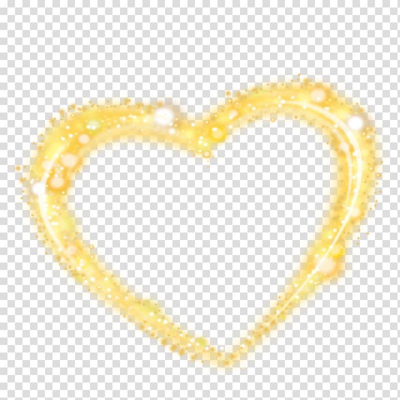 Yellow heart shape , Heart Tanabata Valentine\\\'s Day, Golden.