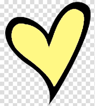 Icon , corazon , yellow and black heart transparent.