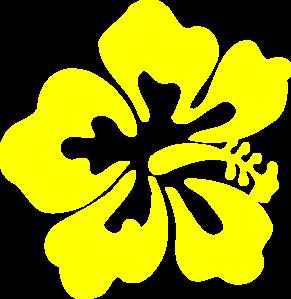 Yellow Hawaiian Flower clip art.