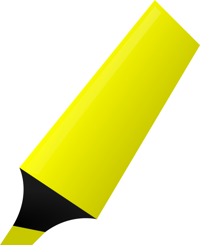 Free Clipart: Yellow Highlighter.