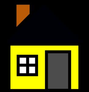 Yellow House 3 Clip Art at Clker.com.