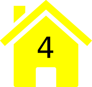 Yellow House Clip Art.