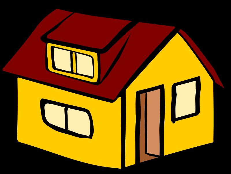 Plain yellow house clipart.