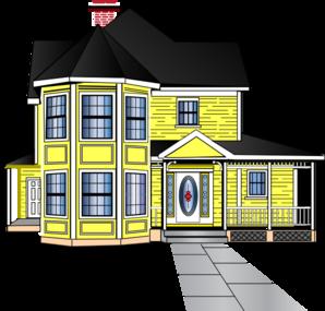 Little Yellow House Clip Art Vector Clip Art Online.