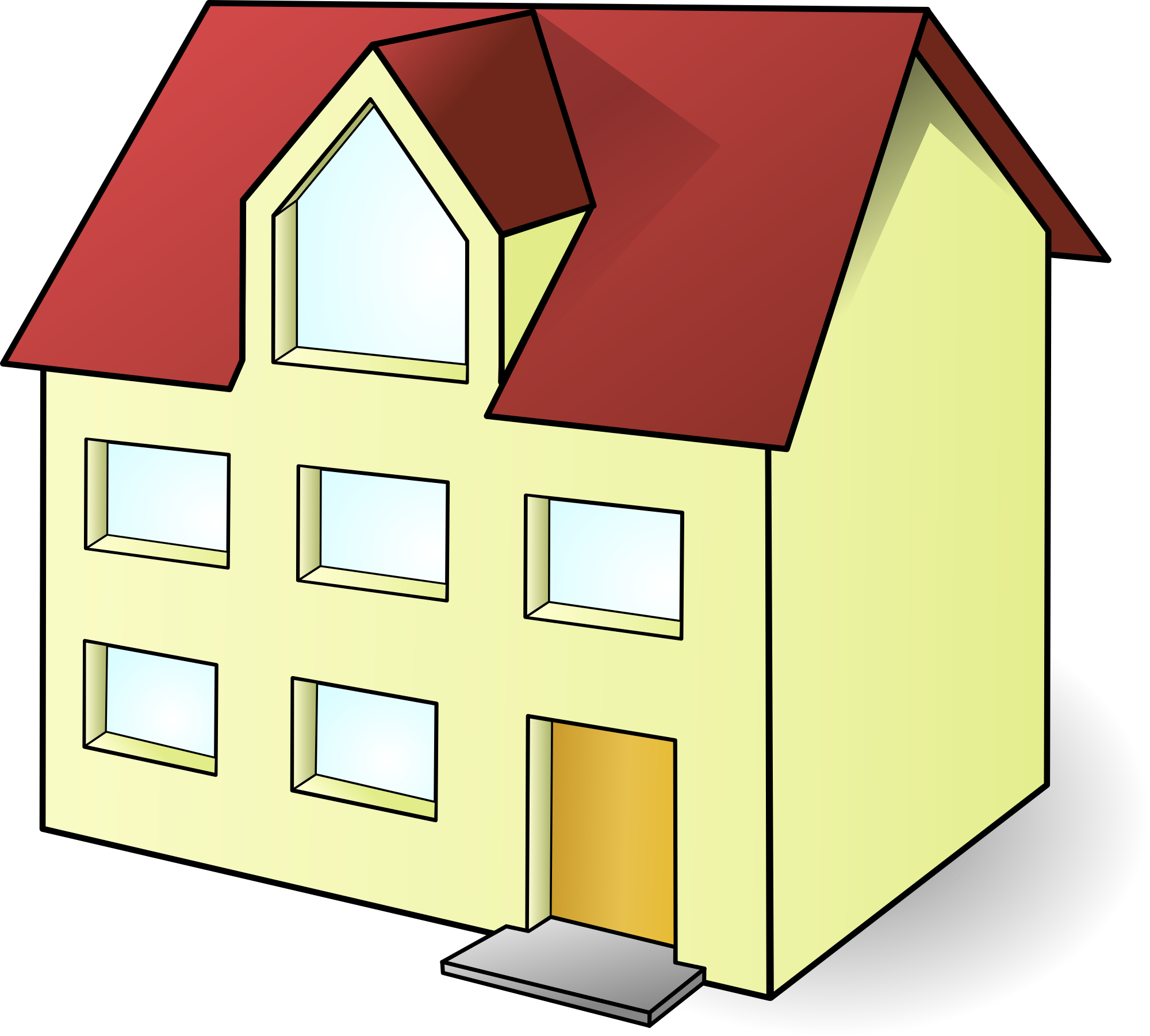 Free yellow house clipart clipart and vector image.