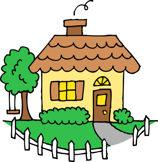 Little Yellow House Clipart.
