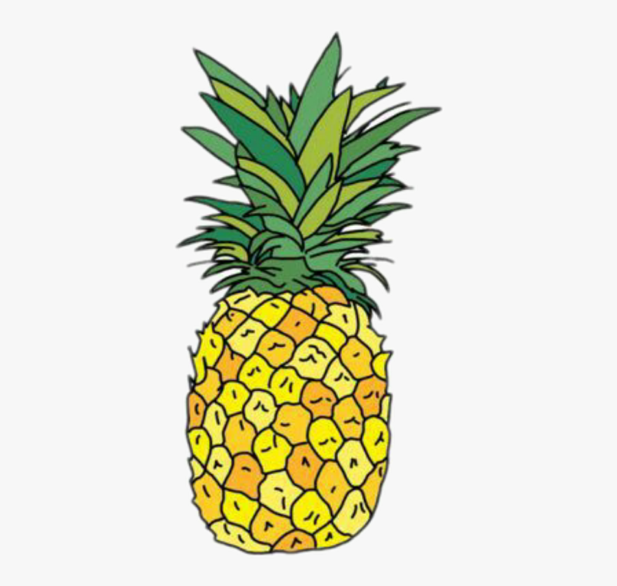 Pineapple Sticker Png Image With Transparent Background.