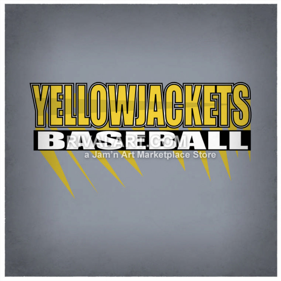 Yellow Jackets Baseball Logo Design.