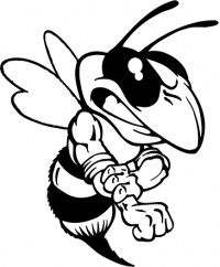 Hornet, Yellow Jacket, Bee Mascot Decal / Sticker.