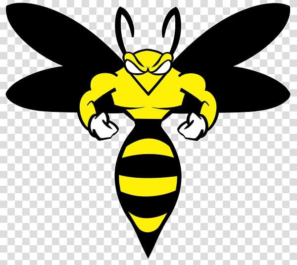 Wasp Yellowjacket Logo System, wasp transparent background.