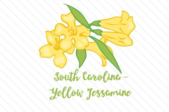 State Flower: South carolina yellow jessamine SVG Cut Files.