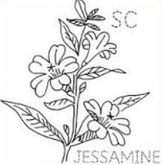 Free Yellow Jasmine Clipart.
