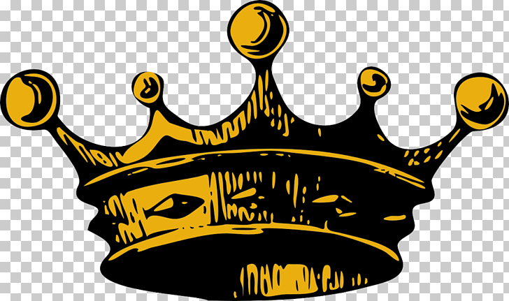 Crown King , Crown , yellow and black crown illustration PNG.