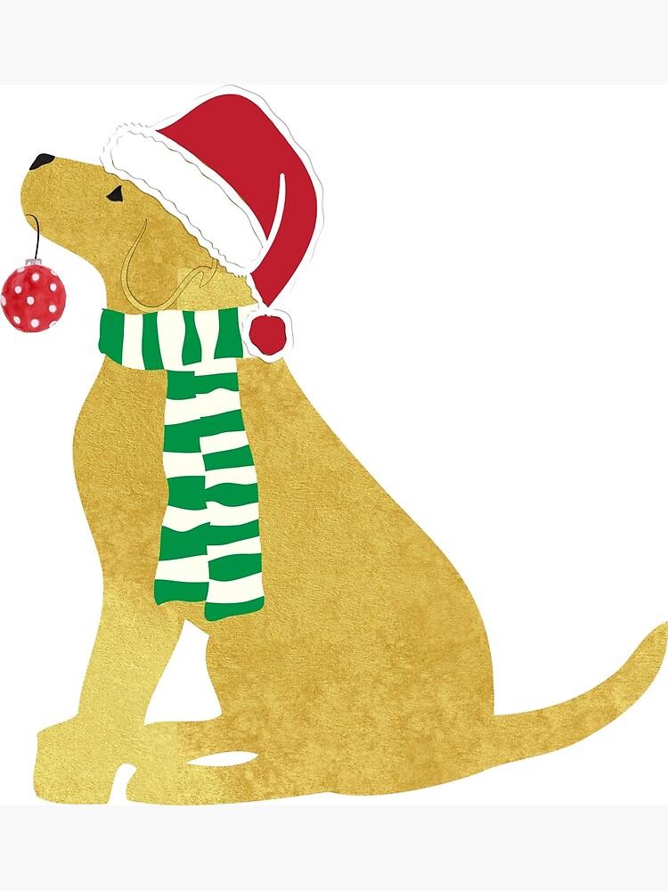 Christmas Yellow Lab Holiday Dog.