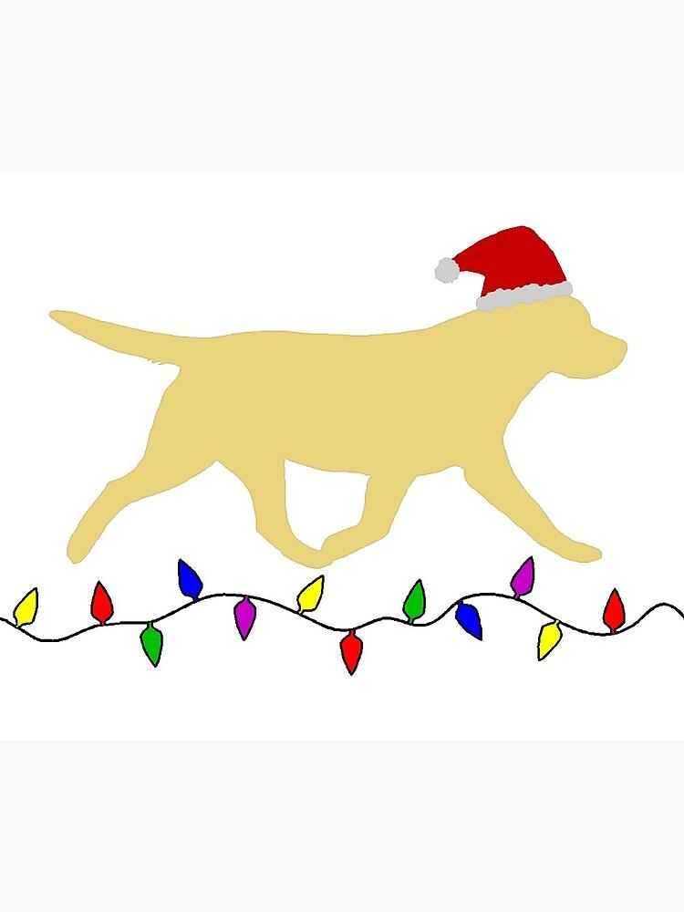 Labrador Retriever Christmas Card.