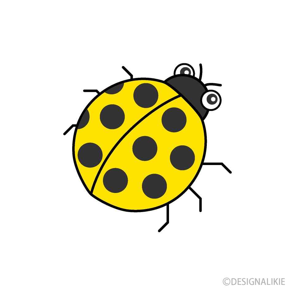 Free Yellow Ladybug Clipart Image|Illustoon.