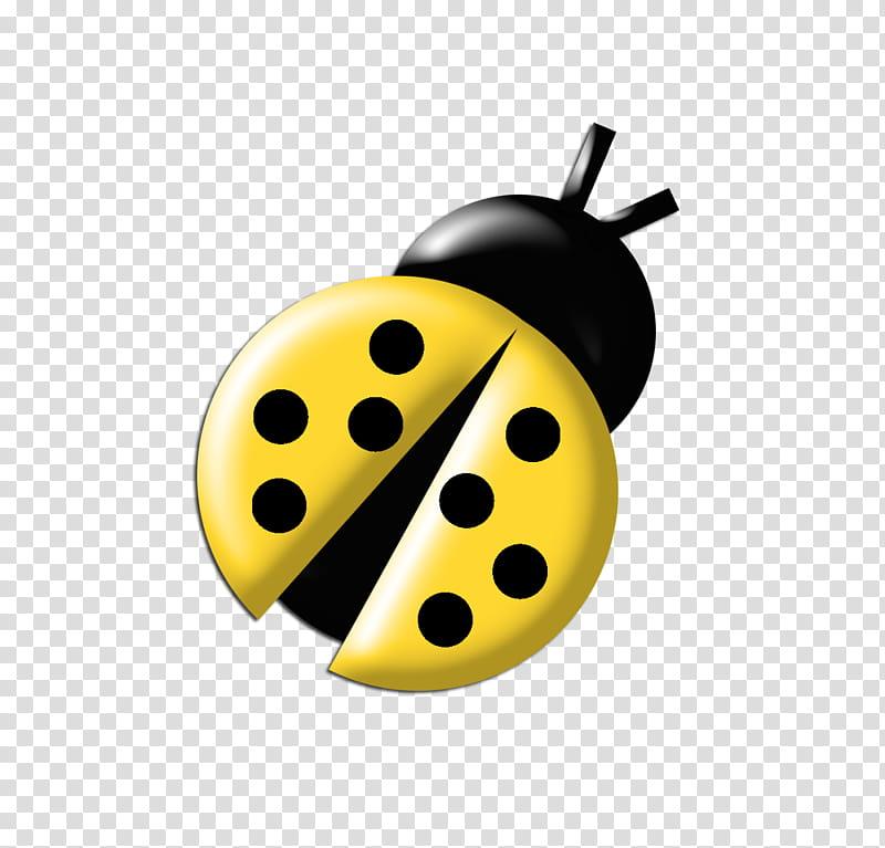 Ladybugs Colours, black and yellow ladybug illustration.