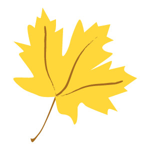 Clipart yellow leaf.