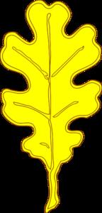 Yellow Oak Leaf Clip Art at Clker.com.