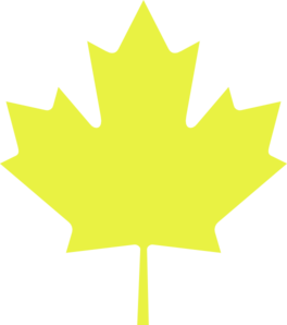 Yellow Maple Leaf Clip Art at Clker.com.