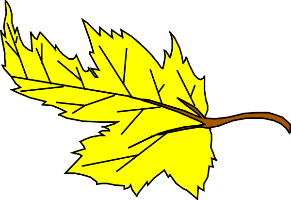 Yellow Leaf Clipart.